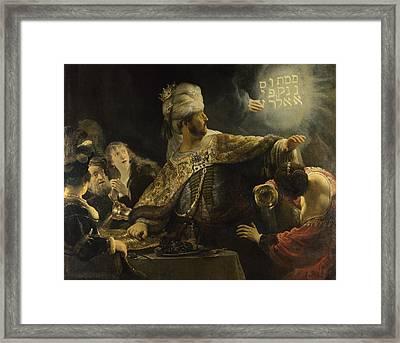 Belshazzar's Feast Framed Print