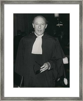 Ben Barka Trial Framed Print by Retro Images Archive