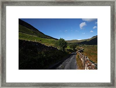 Ben Beg And Road Along The Side Framed Print by Panoramic Images