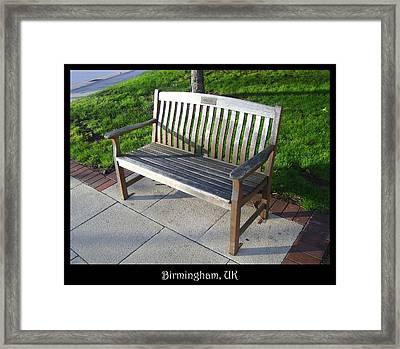 Bench 09 Framed Print by Roberto Alamino