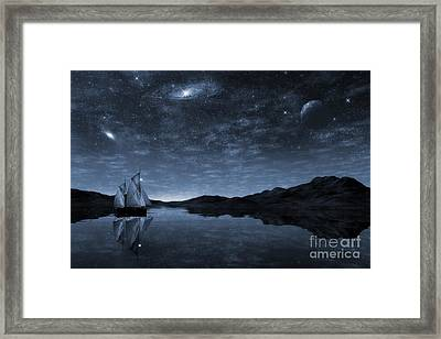 Beneath A Jewelled Sky Framed Print by John Edwards