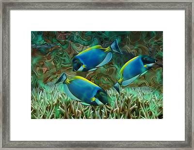 Beneath The Waves Series Framed Print