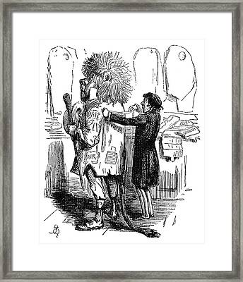 Benjamin Disraeli Cartoon Framed Print