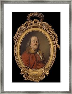 Benjamin Franklin Framed Print by Joseph Siffred Duplessis