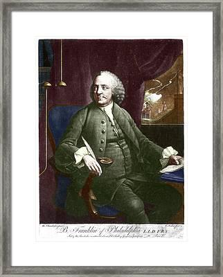 Benjamin Franklin Framed Print by Science Photo Library