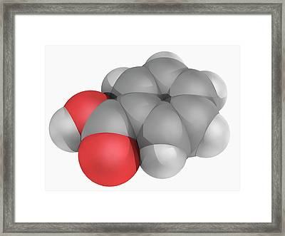 Benzoic Acid Molecule Framed Print by Laguna Design/science Photo Library