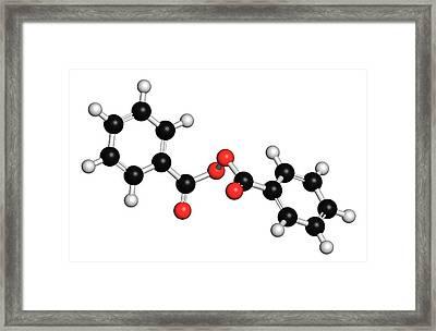 Benzoyl Peroxide Acne Drug Molecule Framed Print