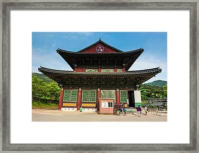 Beopjusa Temple Complex, South Korea Framed Print by Michael Runkel