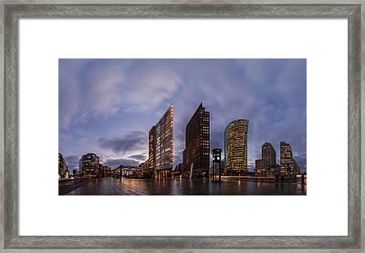 Berlin - Potsdamer Platz Panorama Framed Print