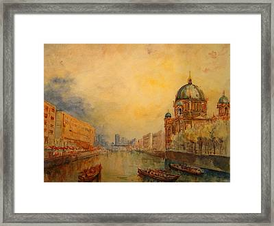 Berlin Framed Print by Juan  Bosco