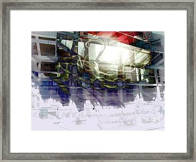 Berlin S Bahn Travails Framed Print by Aruna Samivelu