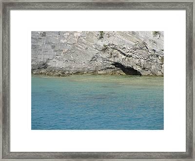 Bermuda Cave Framed Print