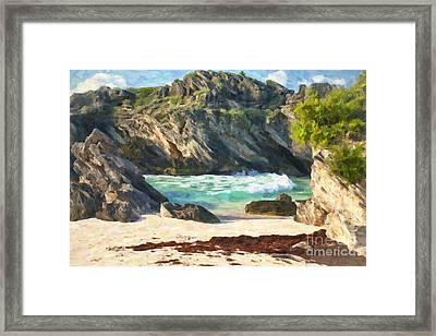 Bermuda Hidden Beach Framed Print