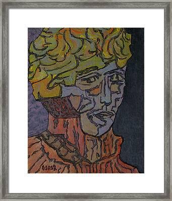 Bernard  Framed Print by Oscar Penalber