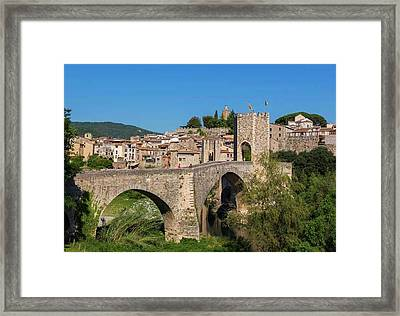 Besalu, Catalonia, Spain Framed Print