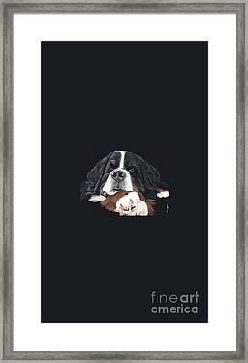 Best In Black Framed Print