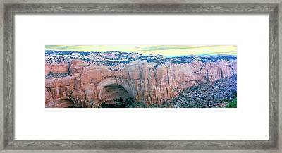 Betatakin Cliff Dwelling Ruins, South Framed Print by Panoramic Images