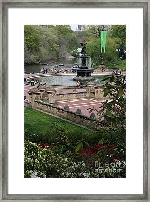 Bethesda Fountain - Central Park Nyc Framed Print