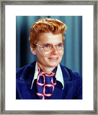 Betsy Ancker-johnson Framed Print by Emilio Segre Visual Archives/american Institute Of Physics