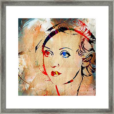 Bette Davis Collection Framed Print by Marvin Blaine