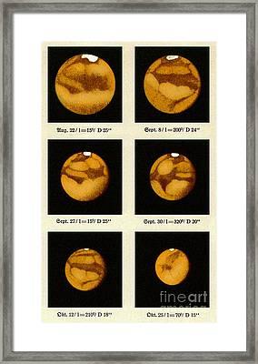 Beyers Observations Of Mars Framed Print by Detlev van Ravenswaay