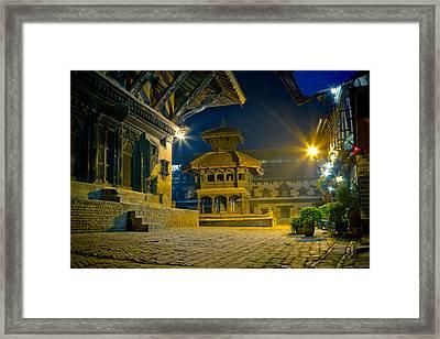 Bhaktapur City Of Devotees Artmif.lv Framed Print