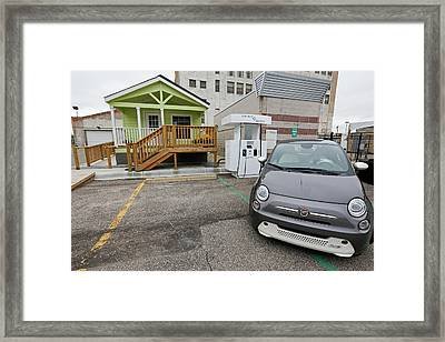 Bi-directional Electric Vehicle Charger Framed Print