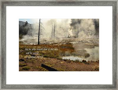 Bible Verse Framed Print by Erich Cabigting