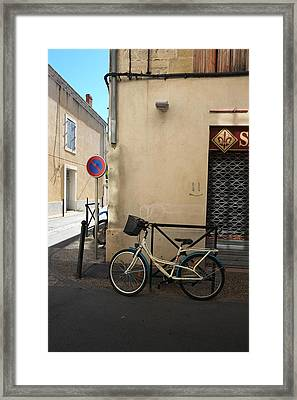Bicycle Aigues Mortes France Framed Print