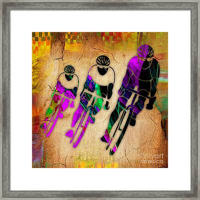 Bicycle Art Framed Print by Marvin Blaine