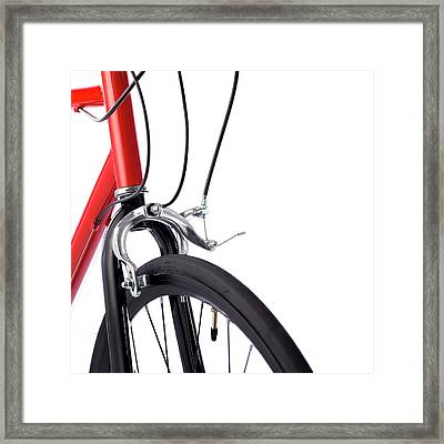 Bicycle Brakes Framed Print by Science Photo Library
