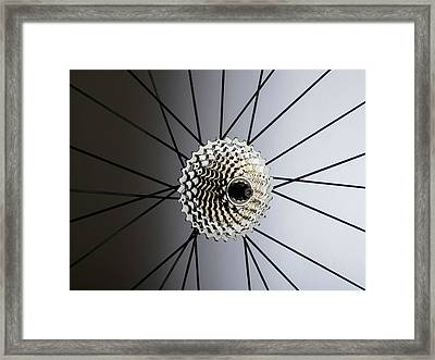 Bicycle Cassette Framed Print by Science Photo Library
