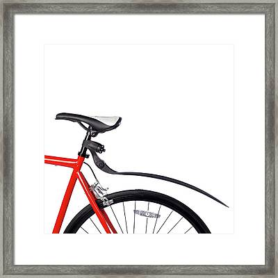 Bicycle Mud Guard Framed Print by Science Photo Library