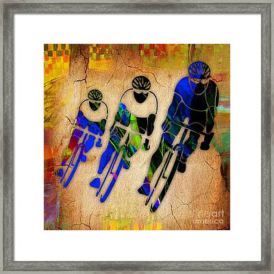 Bicycle Painting Framed Print by Marvin Blaine