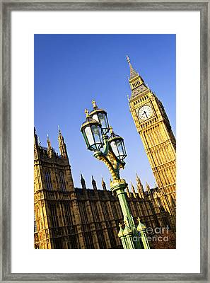 Big Ben And Palace Of Westminster Framed Print by Elena Elisseeva