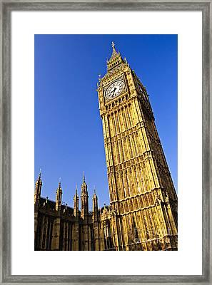 Big Ben Clock Tower Framed Print
