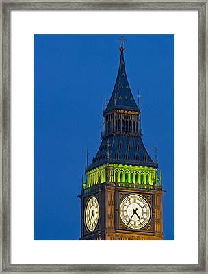 Big Ben Parliament Wesminster London Digital Painting Framed Print