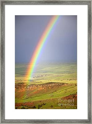 Big Horn Rainbow Framed Print