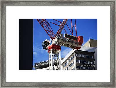 Big Red Crane Framed Print by Jorgo Photography - Wall Art Gallery