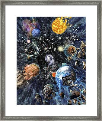Big Rip End To The Universe Framed Print by Nicolle R. Fuller