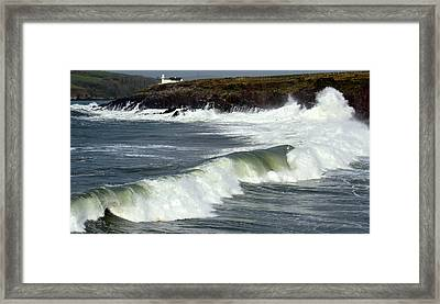 Big Swell Framed Print by Barbara Walsh
