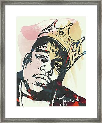 Biggie Smalls Modern Art Drawing Poster Framed Print