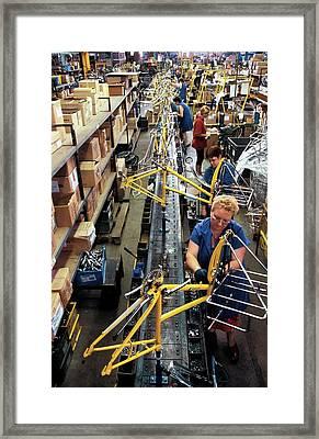 Bike Production Framed Print