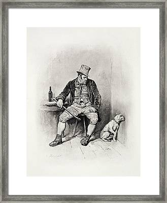 Bill Sykes And His Dog, From Charles Framed Print