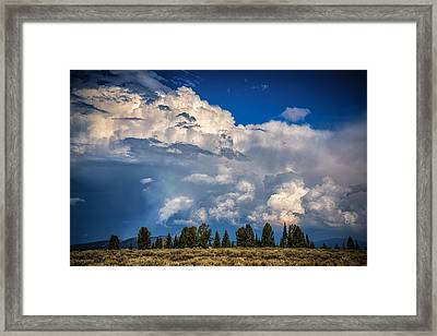 Billows And Waves Framed Print