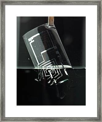 Biodegradable Electronic Circuit Framed Print by Professor John Rogers, University Of Illinois
