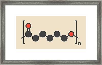 Biodegradable Polymer Molecule Framed Print