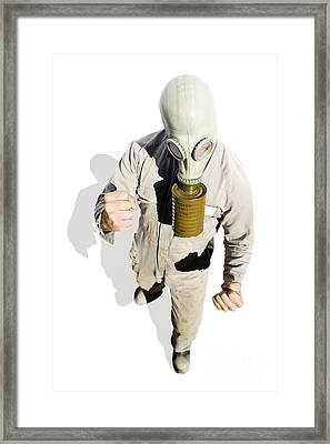 Biohazard Battle Framed Print