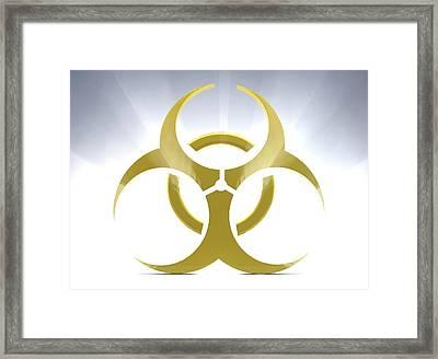 Biohazard Symbol Framed Print by Tim Vernon
