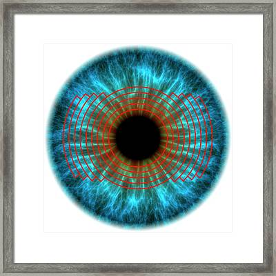 Biometric Eye Scan Framed Print by Alfred Pasieka